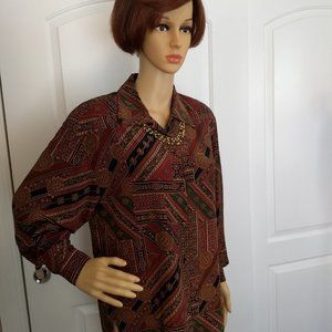Allison Taylor multi-colored silk blouse